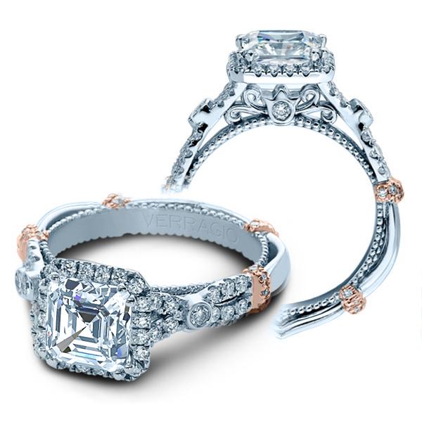 Verragio Parisian Halo Infinity Pave Designer Engagement Ring