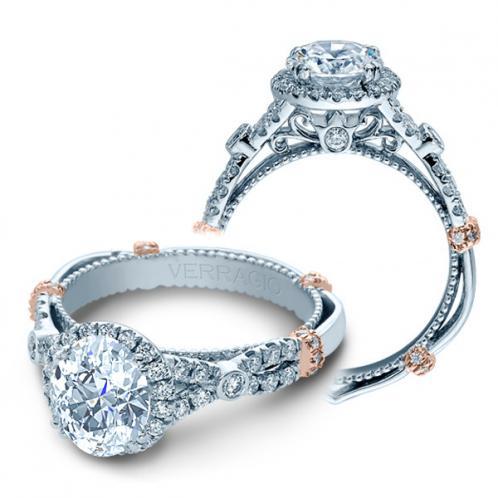 Verragio Parisian Pave Infinity Halo Designer Engagement Ring