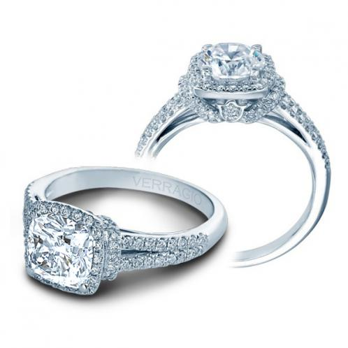 Verragio Couture Halo Pave Designer Engagement Ring