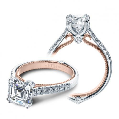 Verragio Couture Pave Two Toned Designer Engagement Ring