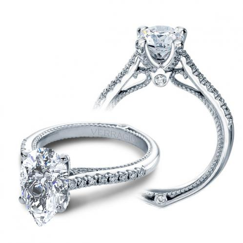 Verragio Couture Prong Pave Designer Engagement Ring