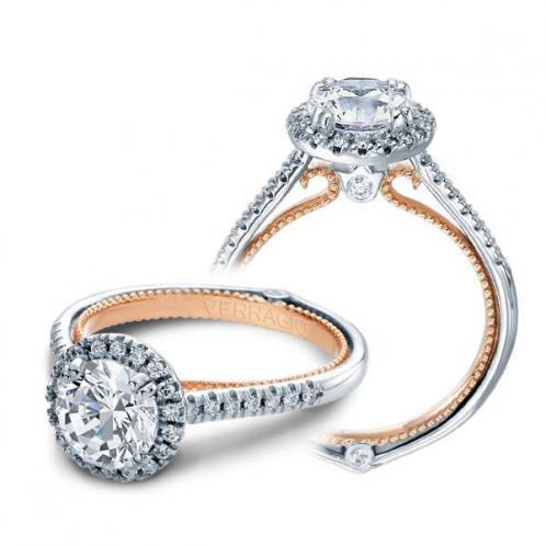 Verragio Couture Pave Halo Designer Engagement Ring