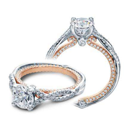Two Tone Platinum Engagement Rings