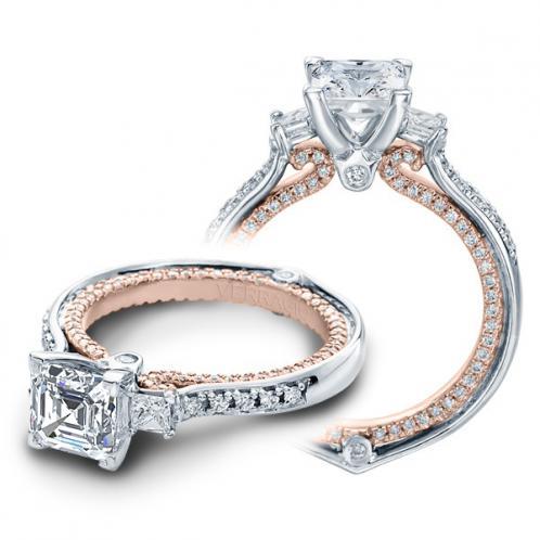Verragio Couture Princess Sidestones Designer Engagement Ring