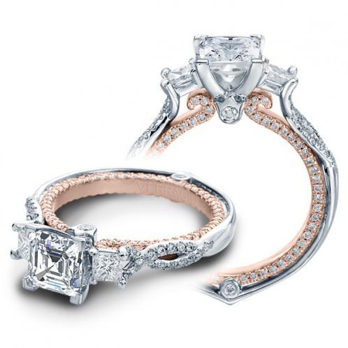 Verragio Couture Infinity Princess Sidestones Designer Engagement Ring
