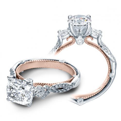 Verragio Couture Round Sidestones Infinity Designer Engagement Ring