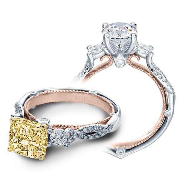 Verragio Couture Round Sidestones Infinity Design Engagement Ring