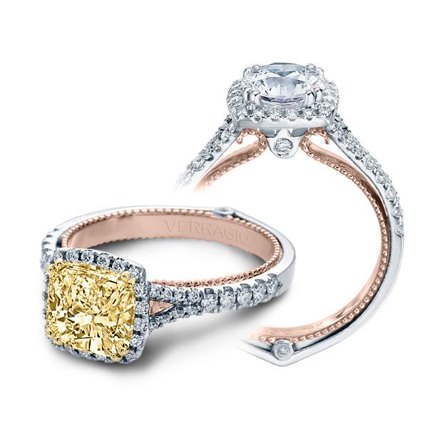 Verragio Couture Halo Split Shank Designer Engagement Ring