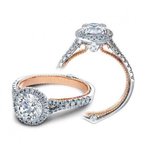 Verragio Halo Couture Split Shank Designer Engagement Ring