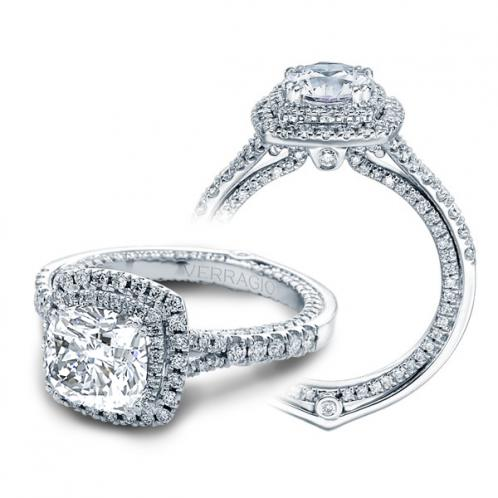 Verragio Couture Double Halo Pave Designer Engagement Ring