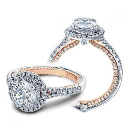 Verragio Double Halo Couture Designer Engagement Ring