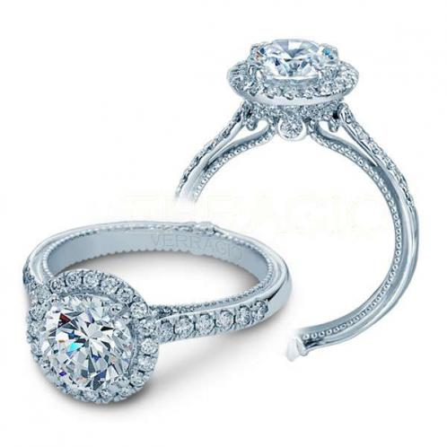 Verragio Pave Couture Halo Designer Engagement Ring