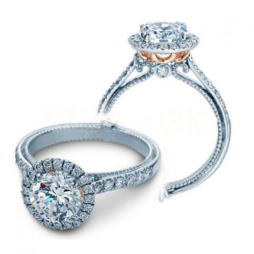 Verragio Couture Pave Designer Halo Engagement Ring