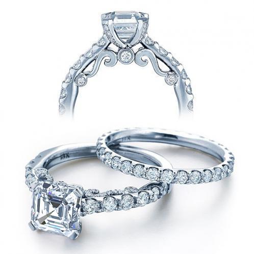 Verragio Insignia Designer Vintage Pave Diamond Engagement Ring