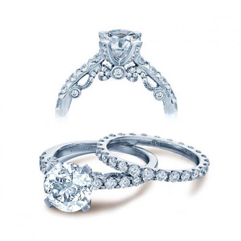 Designer Verragio Insignia Vintage Pave Diamond Engagement Ring