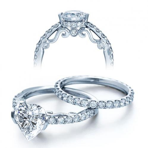 Verragio U-Prong Side Profile Designer Diamond Engagement Ring