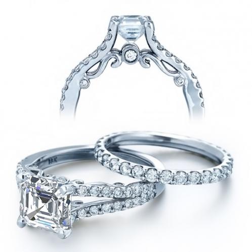 Verragio U-Prong Split Shank Insignia Diamond Engagement Ring