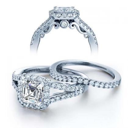 Filigree Split Shank Engagement Rings