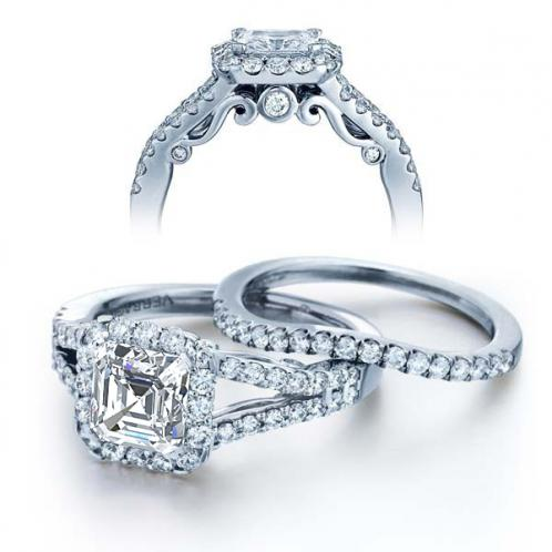 Insignia Verragio U-Prong Split Shank Diamond Engagement Ring