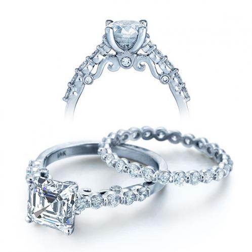 Designer Insignia Sidestones Verragio Diamond Engagement Ring