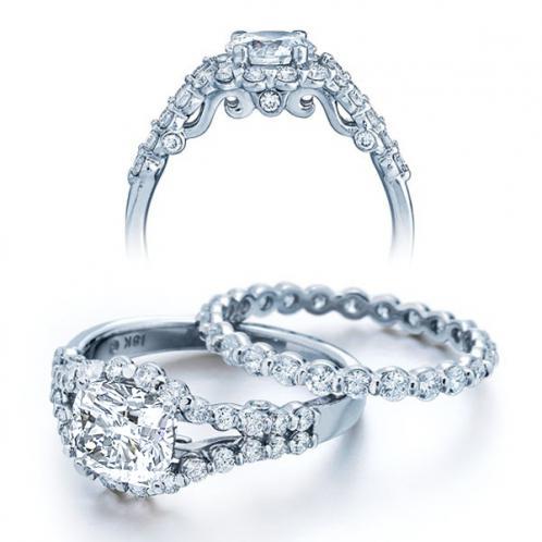 Verragio  Insignia Split Shank Pave Diamond Engagement Ring