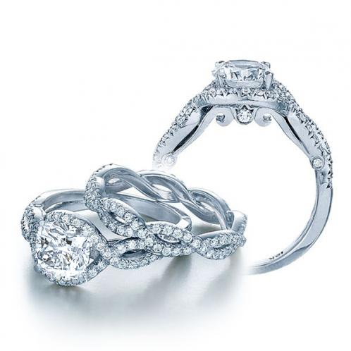 Infinity Verragio Pave Side Profile Diamond Bridal Set