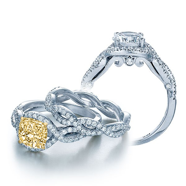 Infinity Verragio Pave Side Profile Diamond Bridal Set