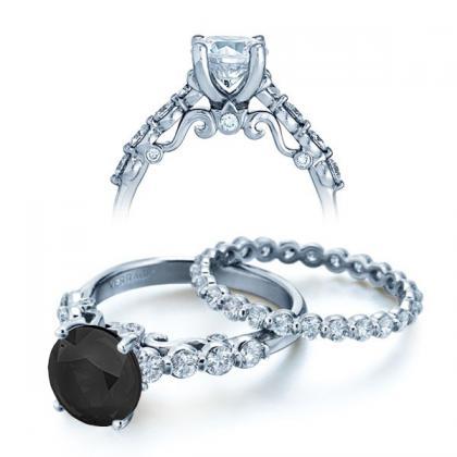 Simple Black Diamond Engagement Rings