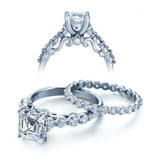 Verragio Half Bezel Designer Insignia Diamond Bridal Set