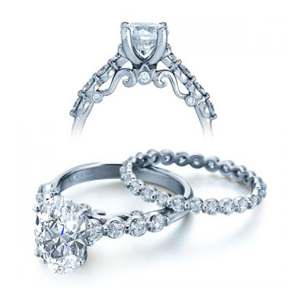 Filigree Oval cut Engagement Rings