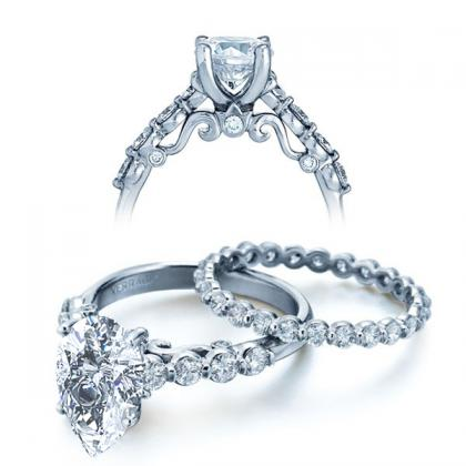 Filigree Pear cut Engagement Rings