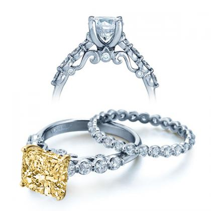 Filigree Yellow Diamond Engagement Rings