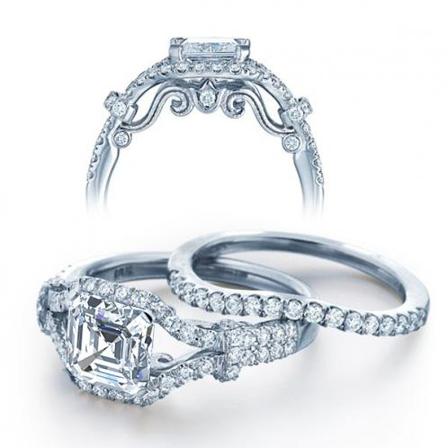 Insignia Verragio Half Bezel Designer Diamond Wedding Set
