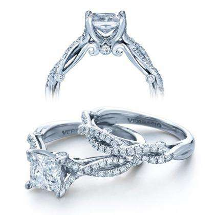 Tri-Color Gold Bridal Wedding Ring Sets