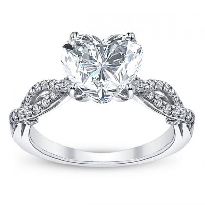 Verragio Heart Shape Engagement Rings