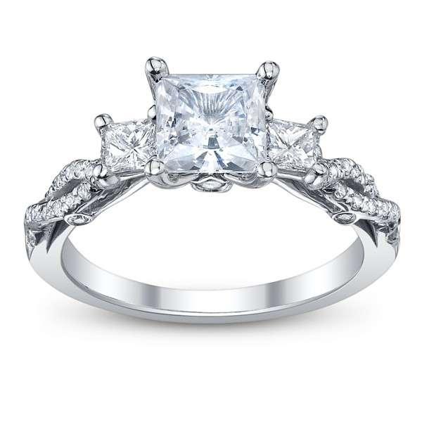 Infinity Pave Insignia Verragio Vintage Natural Diamond Wedding Set
