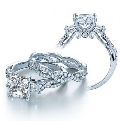Infinity Bridal Wedding Ring Sets