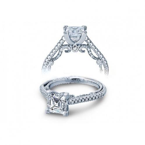 Infinity 4-Prong Filigree Verragio Inisgnia Natural Diamond Wedding Set