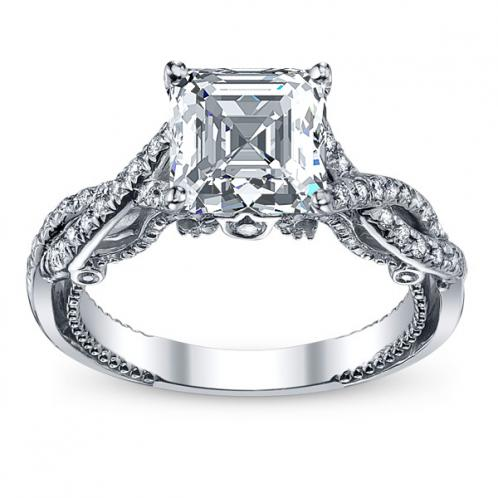Infinity Pave Filigree Verragio Inisgnia Natural Diamond Engagement Ring