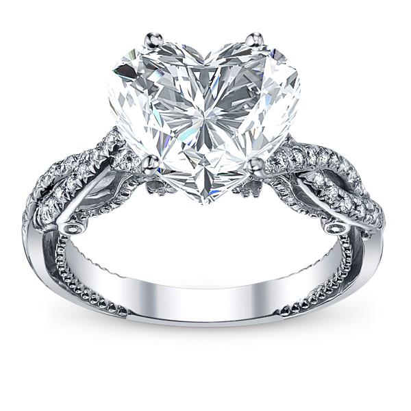 Infinity Pave Filigree Verragio Inisgnia Natural Diamond Engagement Ring