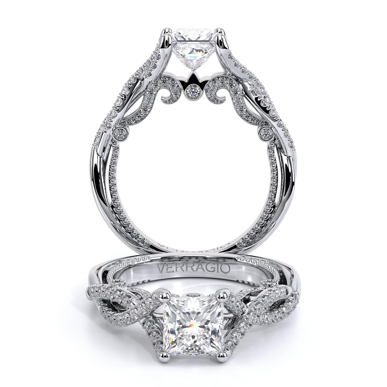 Infinity Pave Filigree Verragio Inisgnia Engagement Ring