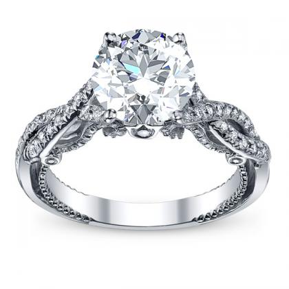 Pave Engagement Rings