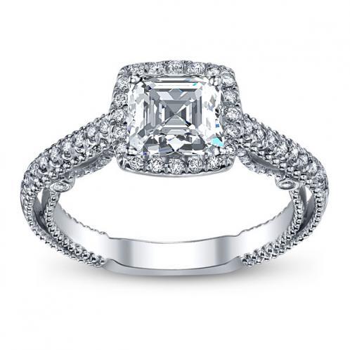 Halo Filigree Verragio Designer Infinity Natural Diamond Engagement Ring