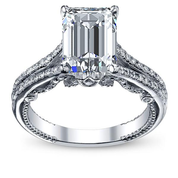 Split Shank U-Prong Designer Verragio Natural Diamond Wedding Set