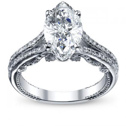 070ct natural diamond marquise cut split shank u prong designer verragio natural diamond wedding set 14k white gold gia