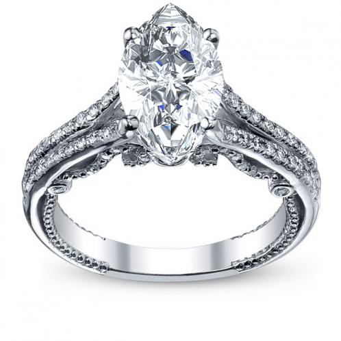 Split Shank U-Prong Designer Verragio Natural Diamond Wedding Set