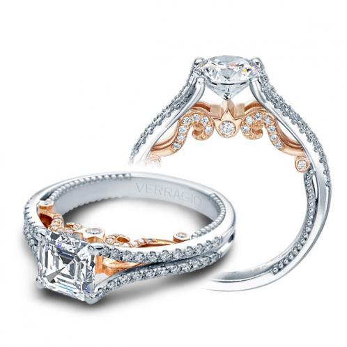 Two-tone Verragio Designer Insignia Natural Diamond Wedding Set