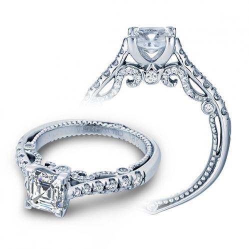 Verragio Insignia Set U-Prong Natural Diamond Engagement Ring