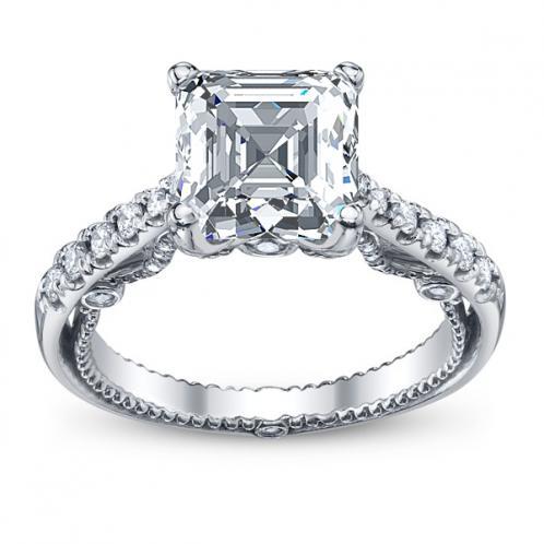 Verragio Insignia Designer U-Prong Natural Diamond Engagement Ring