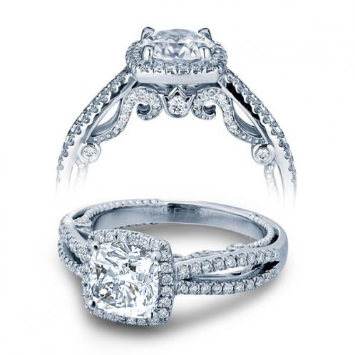 Verragio Insignia Halo Split Shank Designer Engagement Ring